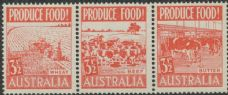 SG 258a ACSC 290ed. Produce Food - 3½d Food strip (AE1/62)